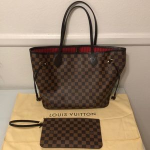 Authentic Louis Vuitton Damier Neverfull MM